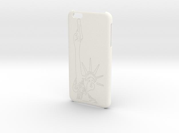 iPhone 6+ Plus - Lady Liberty Case in White Processed Versatile Plastic