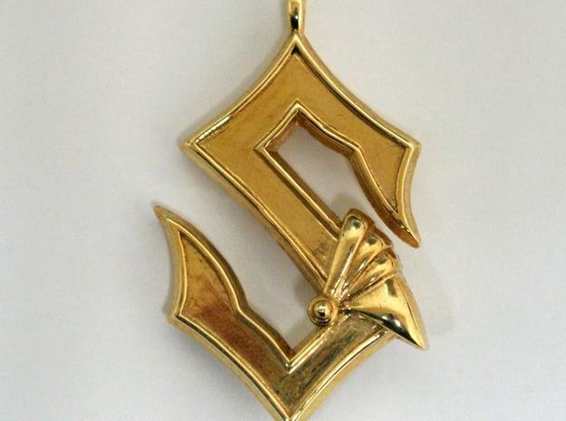 Sabaton Pendant in Polished Gold Steel