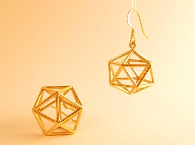 Water earrings in 18k Gold Plated Brass