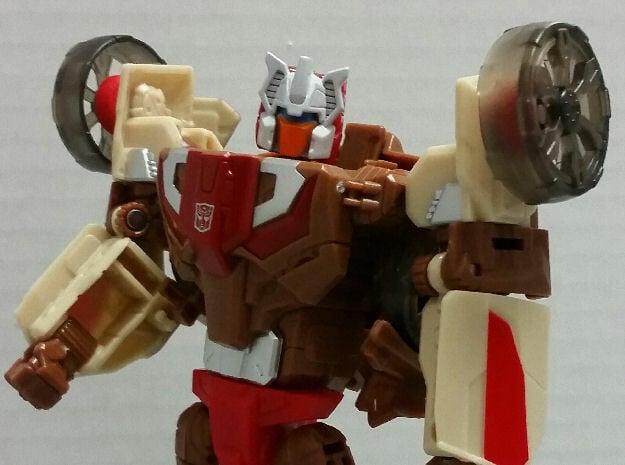 Chromedome Arm Wheels in Red Processed Versatile Plastic
