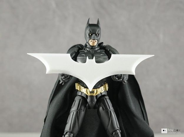 "Batman Trilogy Batarang 12cm (4.75"") in White Natural Versatile Plastic"
