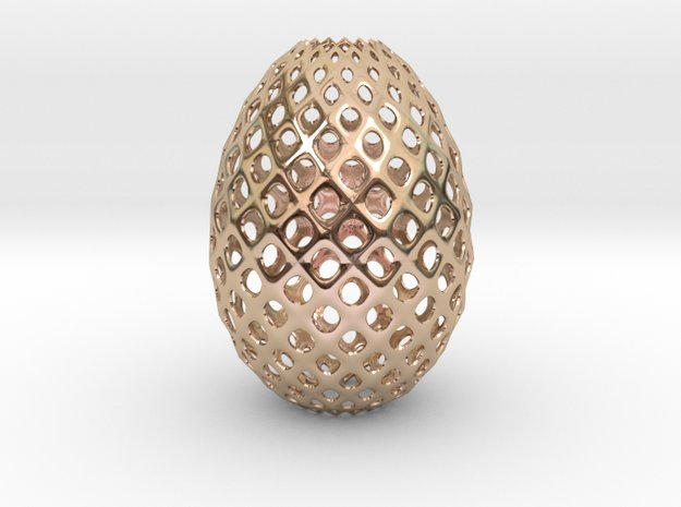 Egg Round in 14k Rose Gold Plated Brass