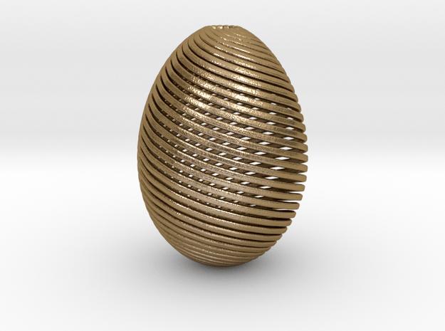 Designer Egg in Polished Gold Steel