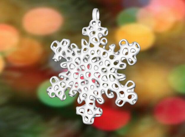 Snowflake Ornament - Carraigín in White Processed Versatile Plastic