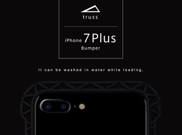iPhone7/8 Plus Bumper 「truss」 in Black Natural Versatile Plastic