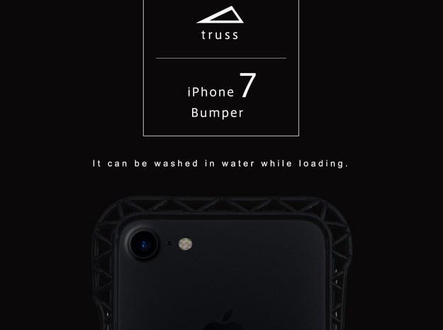 iPhone7/8/New SE Bumper 「truss」 in Black Natural Versatile Plastic