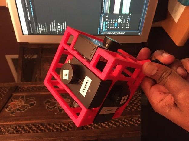 Brahma6 Yi4k proRes 360 video rig in Black Natural Versatile Plastic