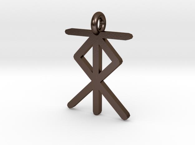 Hiddensee Hausmarken 1 in Polished Bronze Steel