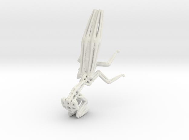 Praying Mantis (small) in White Natural Versatile Plastic