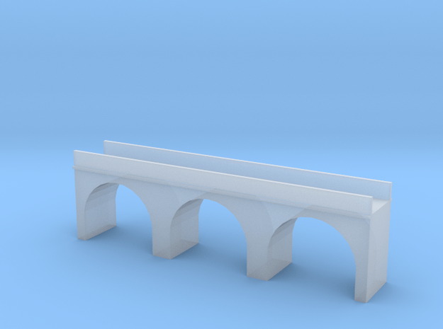 (1:450) Triple Arch Single Track 60mm Bridge in Smooth Fine Detail Plastic