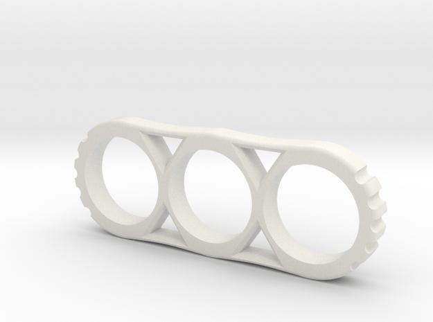 Hand Spinner Project Mk.II 80mm V1 in White Natural Versatile Plastic
