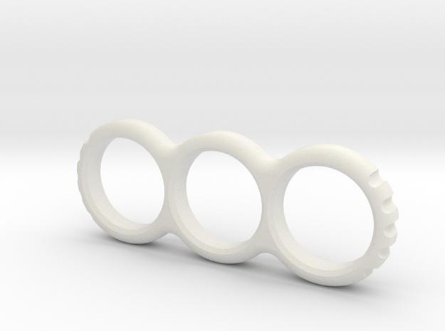 Hand EDC/Fidget Spinner Mk.II 80mm  in White Natural Versatile Plastic