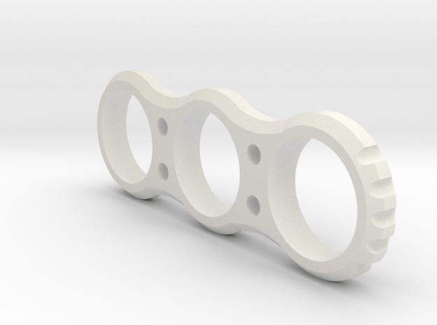 Hand EDC fidget Spinner Project Mk.I 90mm V2 in White Natural Versatile Plastic