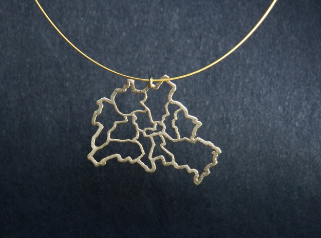 Berlin Pendant in Natural Brass