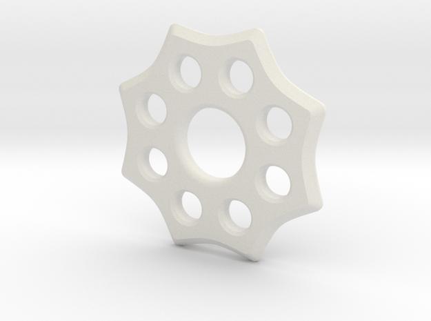 EDC Badge Spinner V1 in White Natural Versatile Plastic