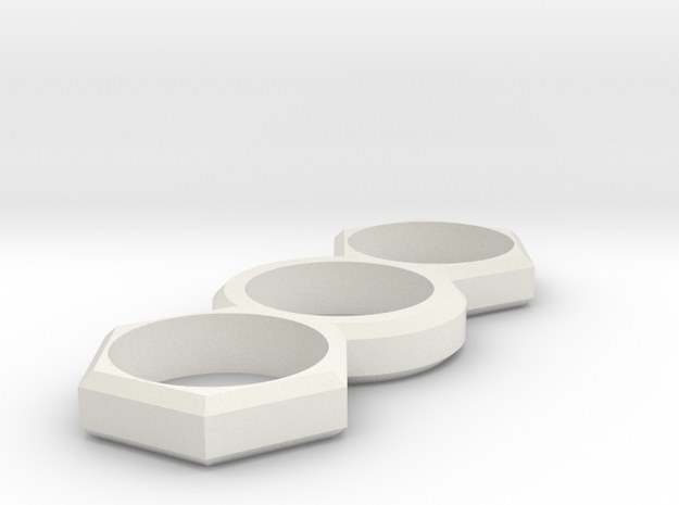 EDC Hexagon V1 in White Natural Versatile Plastic