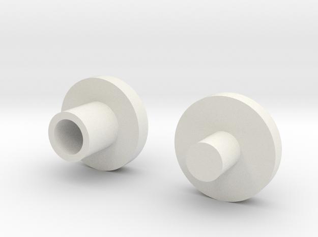 Bearing Plugs in White Natural Versatile Plastic