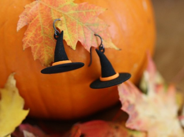 Witch's Hat Earrings - Paired