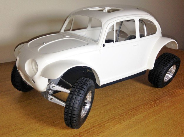 Custom scale chassis for Tamiya Sand Scorcher SRB