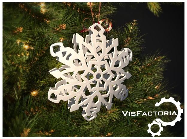 Crystal Christmas Snowflake in White Natural Versatile Plastic