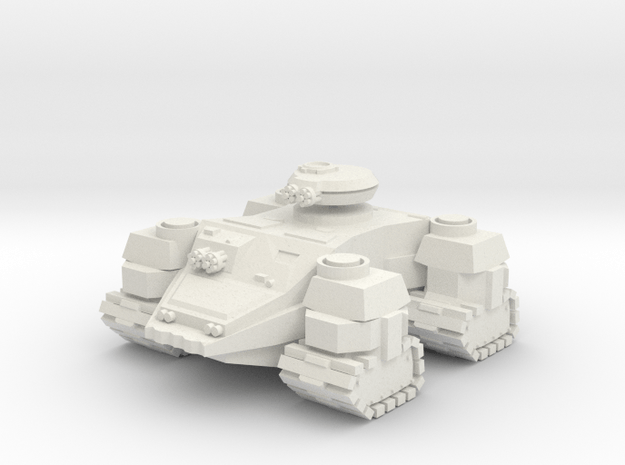 Ground Hog Super Heavy AFV in White Natural Versatile Plastic