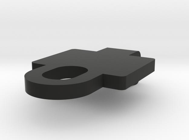 Deans Locker Top Clasp in Black Natural Versatile Plastic