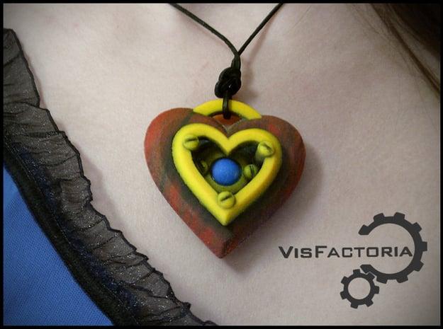 Iron Heart Pendant in Full Color Sandstone