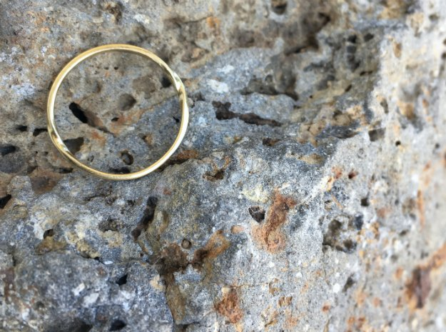 Infinity Ring in 14k Gold Plated Brass: 7 / 54