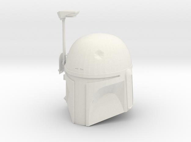 Boba Fett ESB Helmet 1/4th Scale With Visor in White Natural Versatile Plastic