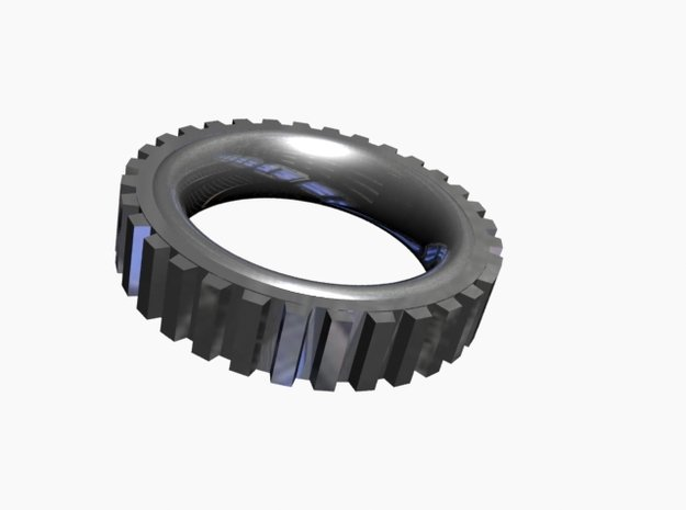 Ring of Gear in White Natural Versatile Plastic