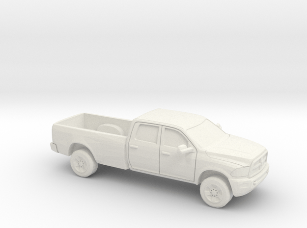 1/87 2013 Dodge Ram Crew  Long Bed in White Natural Versatile Plastic