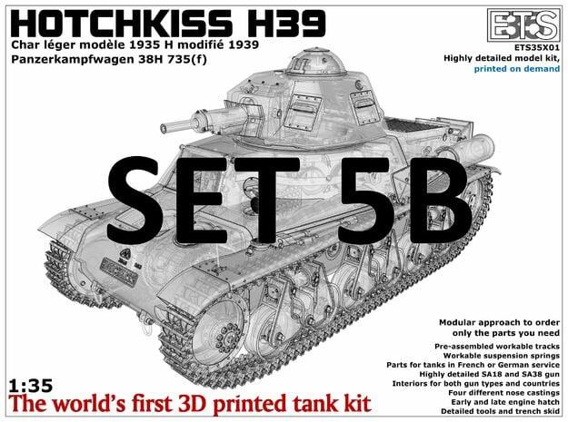 ETS35X01 Hotchkiss H39 - Set 5 option B - SA38 in Smooth Fine Detail Plastic