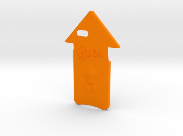 Iphone 6 Plus Splatoon Squid Case in Orange Processed Versatile Plastic