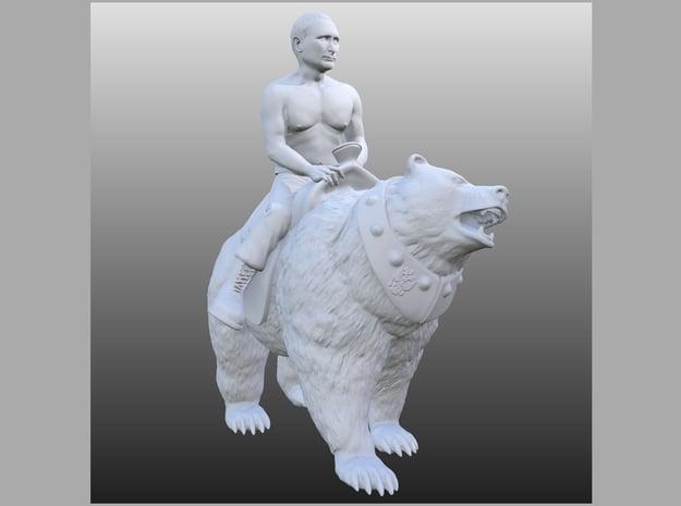Putin On Bear  in White Natural Versatile Plastic