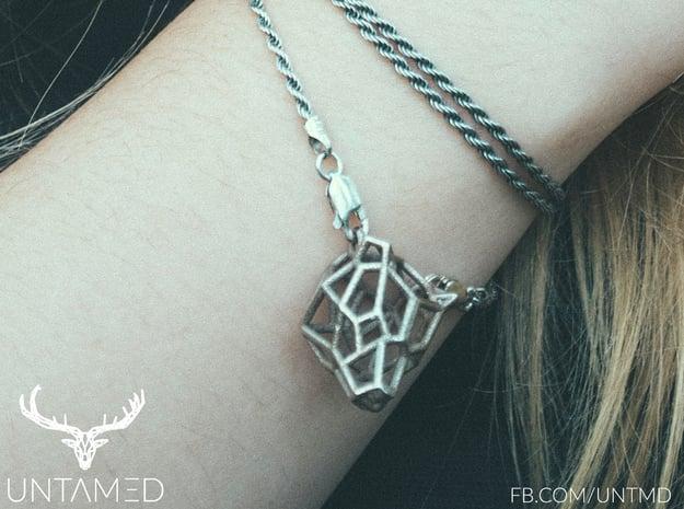 Untamed: The Bear Bracelet in Polished Bronzed Silver Steel: Small