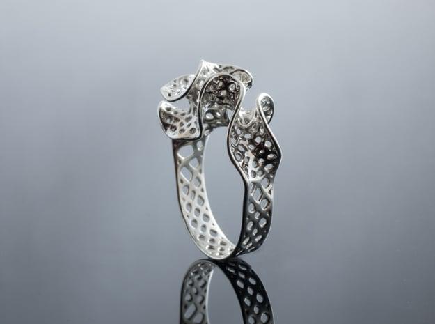 Silver Bryozoa Ring
