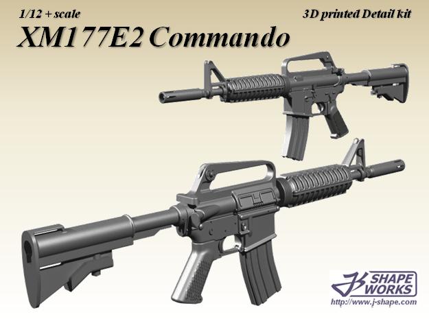 1/9 XM177E2 Commando in Smoothest Fine Detail Plastic