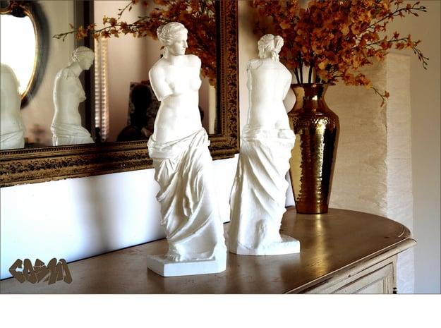 """Venus de Milo (19.4"""" tall) in White Natural Versatile Plastic"""