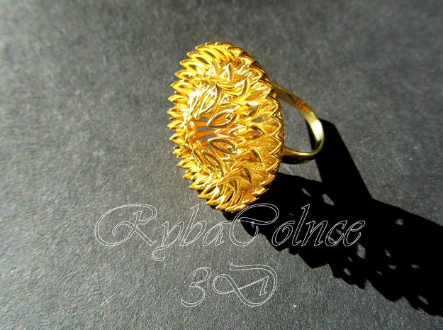 Ring Sun Flowers /size 9 1/2 US (19.4 mm)