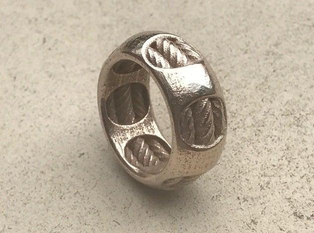 RINGER 1  in Polished Bronzed Silver Steel: 10 / 61.5