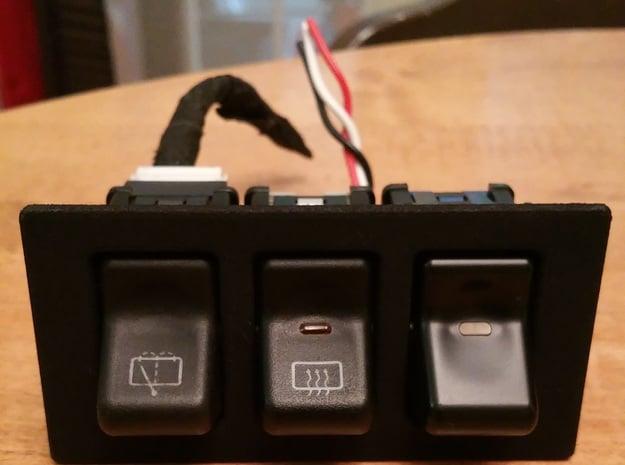 """3x XJ/TJ OEM 100x50mm (2""""x4"""") Switch Panel in Black Natural Versatile Plastic"""