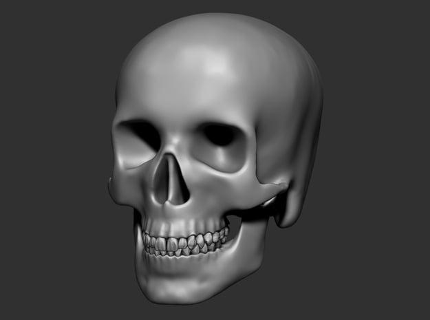 Skull 8cm in White Natural Versatile Plastic