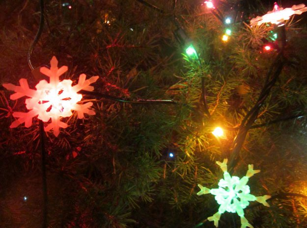 Snow Flakes 6 Points - MULTI PACK in White Natural Versatile Plastic