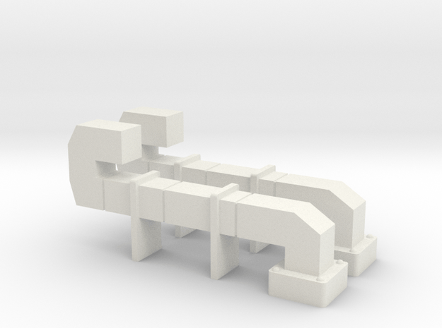 HO DUCTWORK for Building Walls in White Natural Versatile Plastic