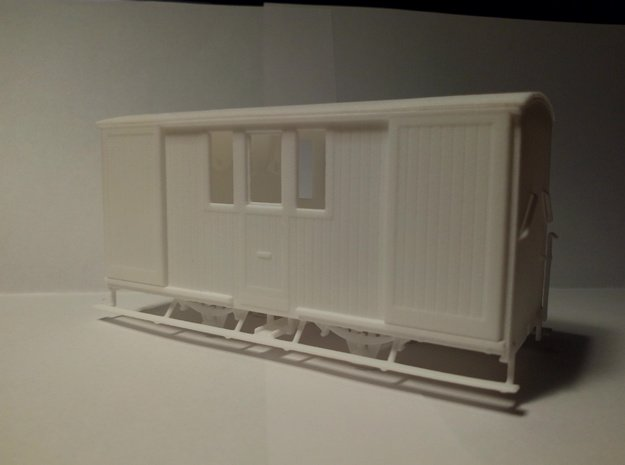 008 ZE LD 1-3 post/bagagewagen in White Processed Versatile Plastic
