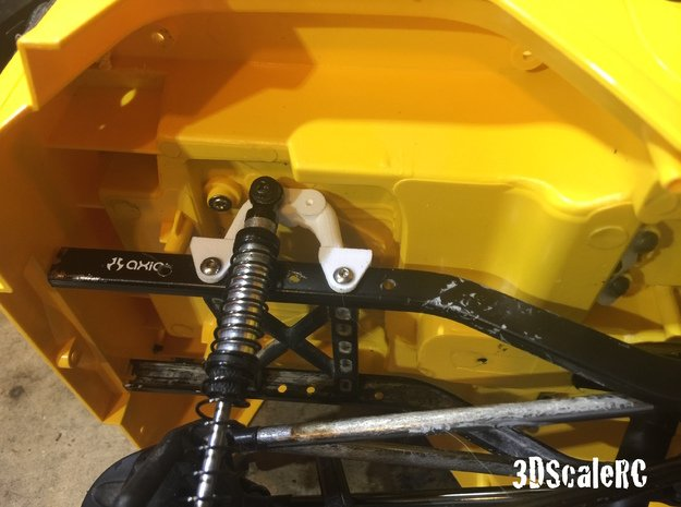 SCX10 Shock Mounts for Jeep in White Natural Versatile Plastic
