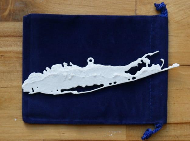 Long Island Christmas Ornament in White Natural Versatile Plastic