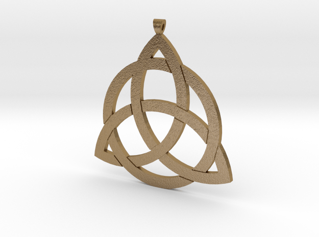 Triquetra Pendant in Polished Gold Steel