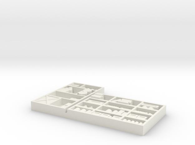 Interior Shelving #2, Industrial Use HO DETAILED  in White Natural Versatile Plastic