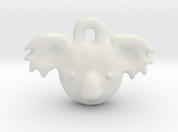 Koala Pendant in White Natural Versatile Plastic